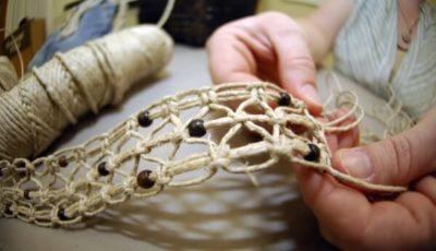 cómo hacer pulseras de macramé gruesas